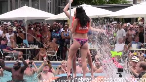 wild pool party at fantasy fest 2014 key west