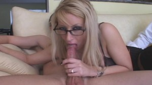 Hot Blonde In Glasses Fucked By New Stud
