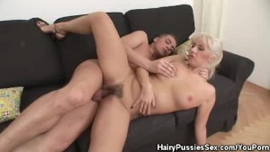 Hairy Pussy Blonde Honey Gets Banged