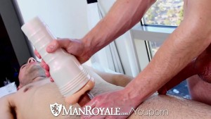 HD - ManRoyale Shy Nico gets oiled up and massaged
