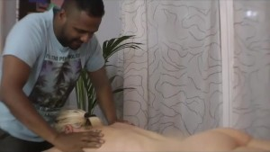 A fake masseur fucks a blonde milf