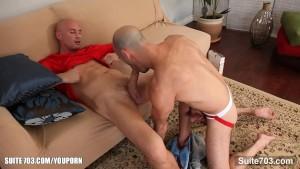 Bald gays taking their cocks
