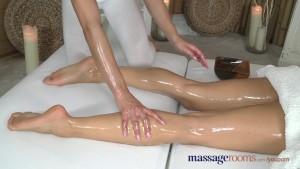 Massage Rooms Petite perfect bodied lesbians has deep finger G-Spot orgasms