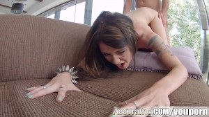 Ass Traffic Deepthroat and anal fuck for polish pornstar