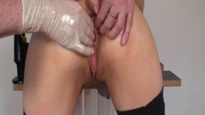 Extreme slave double fisted in her greedy pussy