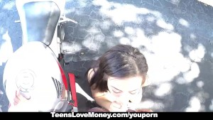 TeensLoveMoney - 18 y.o Teen Caught On Secret Bike Cam