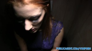 PublicAgent Brunette sex bomb fucking in restaurant toilets