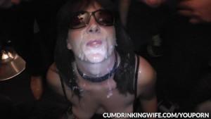 Cumeating Gangbang Slutwife