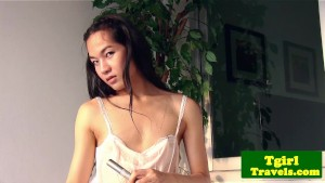 Ladyboy June takes a sensual shower and bath