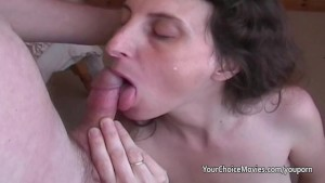 Lactating mature milks while giving great blowjob
