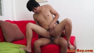 Ethnic asian twink sucked and bareback fucked