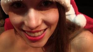 Naughty Miss Santa sucks and f