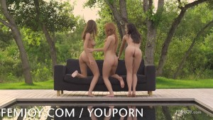 Nude perfection times three