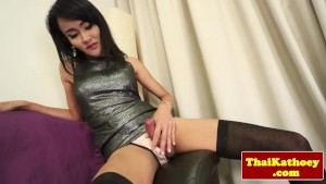 Thai ladyboy tgirl in stocking