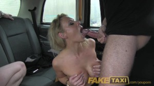 FakeTaxi Threesome action in London cab