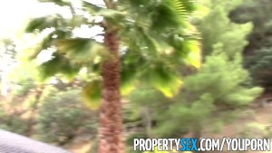 PropertySex - Gorgeous real estate agent tricked into fucking homemade sex video