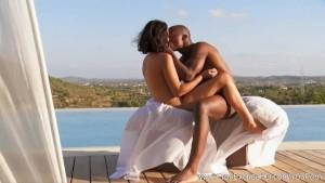 Ebony Couple Experiment With Sex