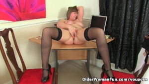 British mom April loves to be your naughty secretary