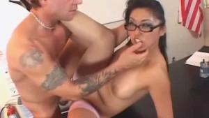 Asian MILF ass-licking and fuck