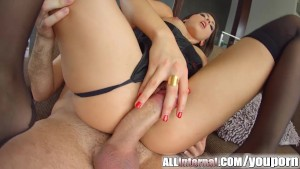 All Internal Epic anal creampie for french beauty