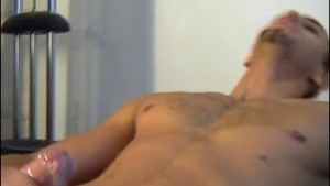 Delivery guy gets wanked his big cock by a client for money !