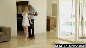 BLACKED Blonde Babysitter Trillium Fucks her Black Boss