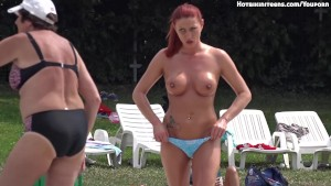 Sexy Topless Beach Teen Girls Voyeur HD Video Teaser II