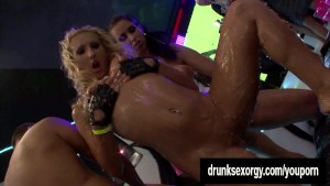 Horny bi bitches fucking at a
