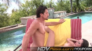 HDVPass Amy Fisher gets her pussy eaten and fucked by the pool