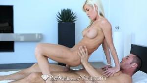 PureMature - Hot blonde Mikki Lyn gets covered in cum