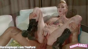BurningAngel Emo Babe Ass Licked and Pussy Pounded