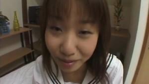 Mayu Yagihara exposes hot tits before stroking and sucking dick