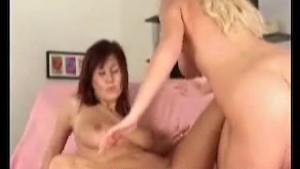 Busty amateur Paris and Christine on lesbian scene