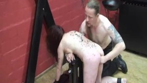 Masochistic slave fisted by he