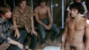 Vintage Group Scene - SEVEN IN A BARN (J. Brian, 1971)