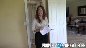 PropertySex - Hot real estate agent gets flirty with client and records sex video