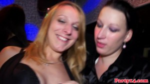 Handjob party babes in glamorous nightclub