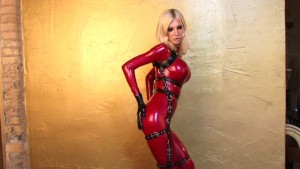YouPorn - Susan Wayland in red latex catsuit
