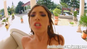 Ass Traffic Cecilia sucks cock after anal action