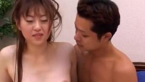 Yuri Koizumi has hairy twat nailed and gets cumshot on face
