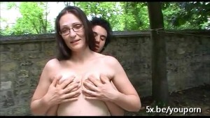 French milf Sophie fucked outd