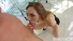 Asstraffic redhead is bent ove