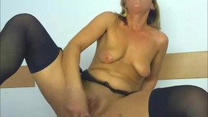 Amateur Blonde Having Fun with a Dildo