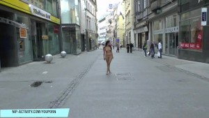 Crazy teen terra naked on public streets