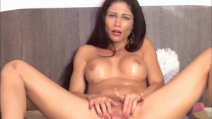 Sexy brunette having a juicy o