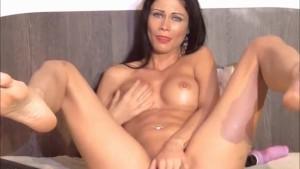 Sexy brunette having a juicy orgazm