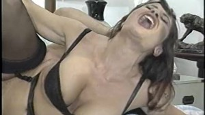 Stacked brunette gets her holes pounded