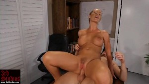 Busty blonde Nicole Aniston rides Cock