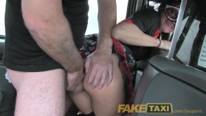 FakeTaxi Lady in fancy dress d