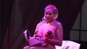 busty burlesque on stage